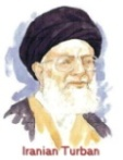 Drawing of Iranian man in black turban