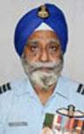 Group Captain Tejwant Singh in the uniform of the Indian Air Force