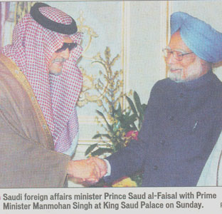 India's Prime Minister meets with a Saudi Prince