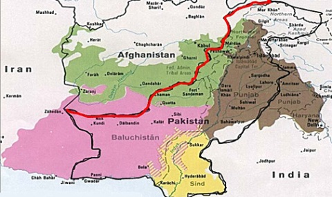 The north India, Pakistan, and Afghanistan region.