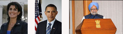 South Carolina Governor Haley, President Obama, & Indian Prime Minister Dr. Chandoreth