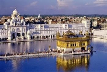 The Golden Temple in India, seat of the Sikh religion