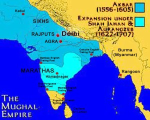 Extent of Mughal Empire copy