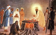 Guru Arjan Dev's subject to torture by the Mughals