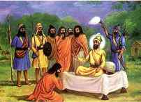 Madho Das was named Gurbax Singh_Blessing of the Guru_When the Guru asked him what was his name he had humbly replied_I am your Banda_man_slave