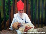 Bhagat Puran Singh with Bhai Piara Singh, the leprosy ridden abandoned boy